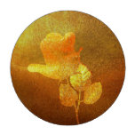Shiny Gold Ink Paper Romantic Imprinted Rose Poker Chips