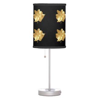 Shiny Gold Leaf Desk Lamp