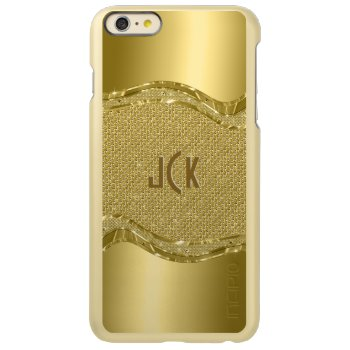 Shiny Gold Look With Diamonds Pattern Incipio Feather® Shine iPhone 6 Plus Case