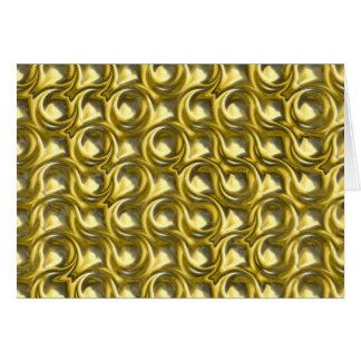 Shiny Gold Loops Card
