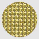 Shiny Gold Loops Classic Round Sticker