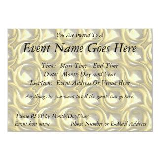 Shiny Gold Loops 5x7 Paper Invitation Card