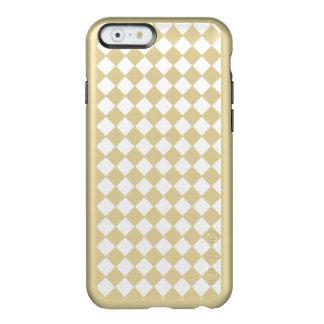 Shiny Gold Metallic Diamond Geometric Pattern Incipio Feather® Shine iPhone 6 Case
