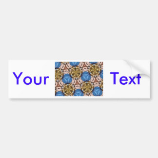 Shiny Gold Paperweight Glasses Marbles Blue Brown Bumper Sticker