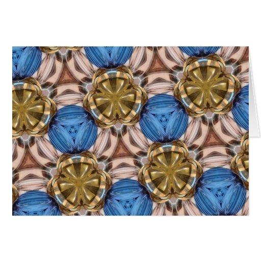Shiny Gold Paperweight Glasses Marbles Blue Brown Cards
