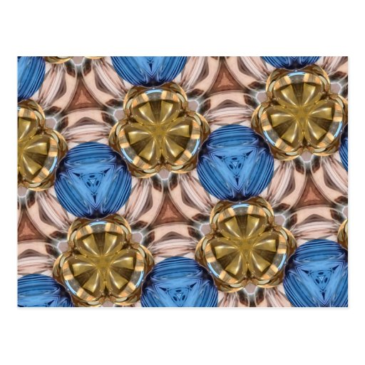 Shiny Gold Paperweight Glasses Marbles Blue Brown Postcards