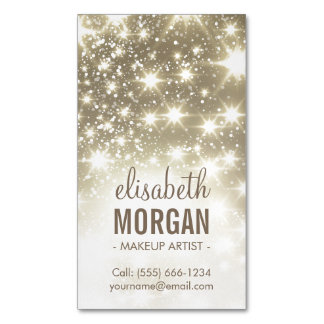 Shiny Gold Sparkles Glamours Magnetic Business Card