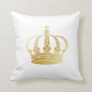 Gold Crown Throw Pillow : Crown Royal Pillows - Decorative & Throw Pillows Zazzle