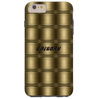 Shiny Golden Stripes Pattern Tough iPhone 6 Plus Case