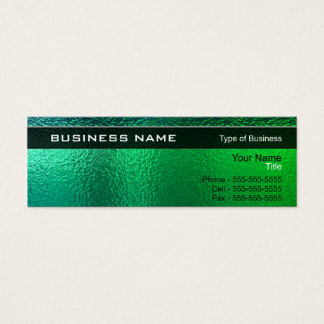 Shiny Green and Blue Metal Generic Mini Business Card