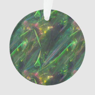 Shiny Green Color Folds Texture Pattern Ornament