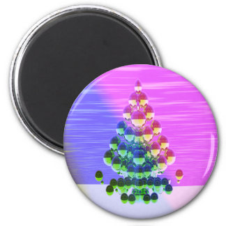 Shiny Greetings 2 Inch Round Magnet