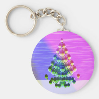 Shiny Greetings Basic Round Button Keychain