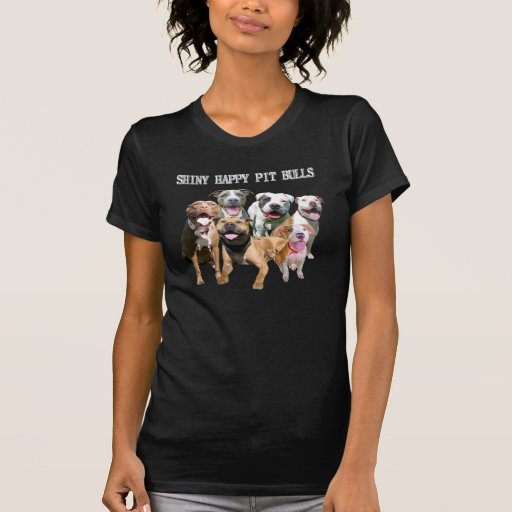 Shiny Happy Pit Bulls Dark T-Shirt