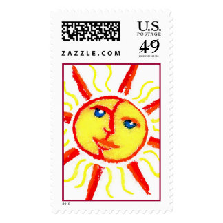 Shiny. Happy. Sun. Stamps