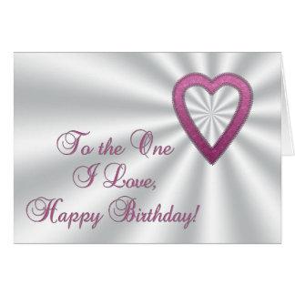 Shiny Heart Happy Birthday card