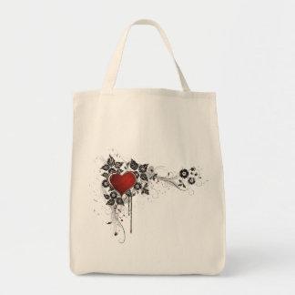 Shiny Heart, Leaves & Flowers - Original Tote Bag