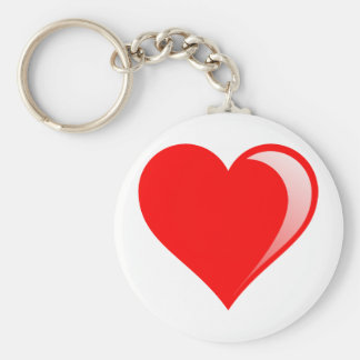 shiny_heart_T.png Basic Round Button Keychain