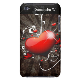 Shiny Heart with Swirly Grunge Background iPod Touch Cover