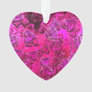 Shiny Hearts Acrylic Ornament
