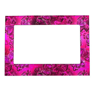 Shiny Hearts Magnetic Photo Frame