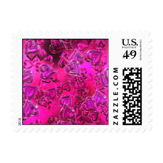 Shiny Hearts Postage Stamps