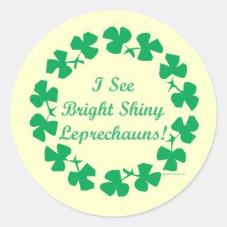 Shiny Leprechauns St. Patrick's Day Stickers