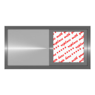 Shiny Like Steel Metal Background Template Photo Card Template