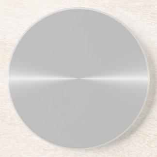Shiny Like Steel Metal Background Template Sandstone Coaster