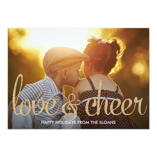 Shiny Love & Cheer Holiday Photo Card