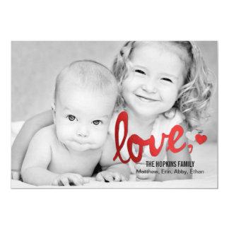 "Shiny Love Valentine's Day Photo Cards - Red 5"" X 7"" Invitation Card"