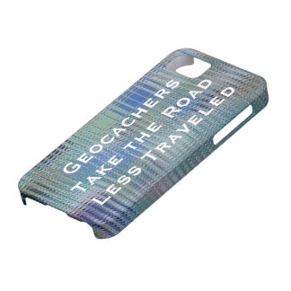 Shiny Metal Look | Geocachers Quote iPhone SE/5/5s Case