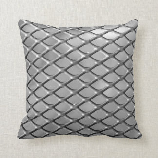 Shiny metal steel aluminum diamonds pillow
