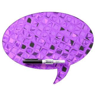 Shiny Metallic Amethyst Purple Diamond Dry Erase Board