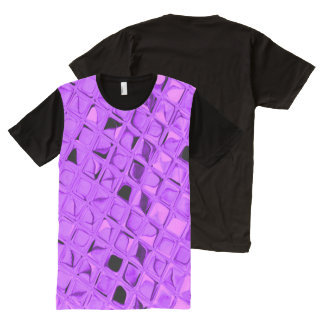 Shiny Metallic Amethyst Purple Grape Diamond All-Over-Print T-Shirt