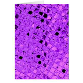 Shiny Metallic Amethyst Purple Grape Diamond Card