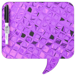 Shiny Metallic Amethyst Purple Grape Diamond Dry-Erase Board