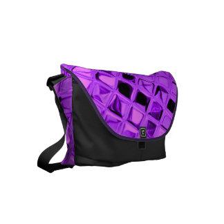 Shiny Metallic Amethyst Purple Grape Diamond Small Messenger Bag