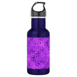Shiny Metallic Amethyst Purple Grape Diamond Stainless Steel Water Bottle
