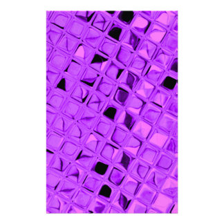 Shiny Metallic Amethyst Purple Grape Diamond Stationery