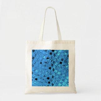 Shiny Metallic Blue Diamond Party Favor Gift Tote Bag