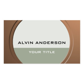 Shiny Metallic Customizable any Text and Color Business Card