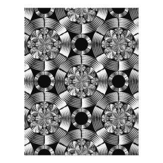 Shiny metallic damask flyer