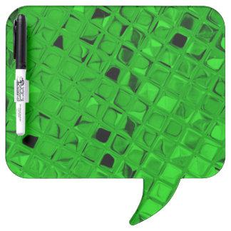 Shiny Metallic Emerald Green Diamond Dry-Erase Board