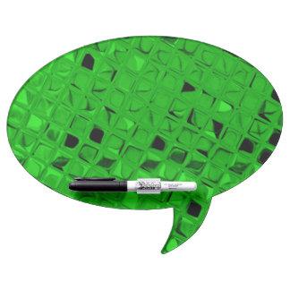 Shiny Metallic Emerald Green Diamond Dry Erase Board
