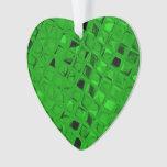 Shiny Metallic Emerald Green Diamond Serpentine
