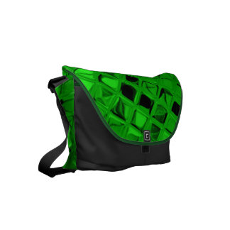 Shiny Metallic Emerald Green Diamond Small Messenger Bag