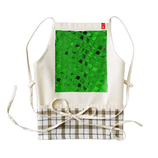 Shiny Metallic Emerald Green Diamond Zazzle HEART Apron