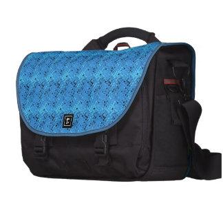 Shiny Metallic Girly Blue Diamond Sissy Sassy Commuter Bags