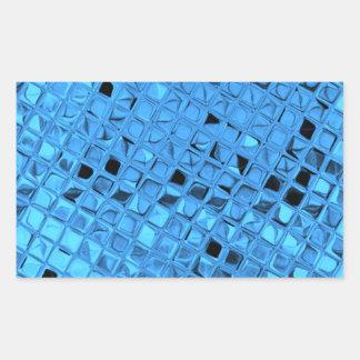 Shiny Metallic Girly Blue Diamond Sissy Sassy Rectangular Sticker